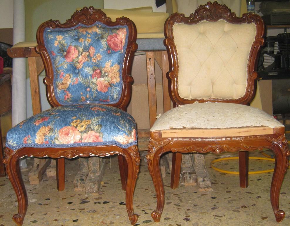 ταπετσαρια σε παλιές καρεκλες